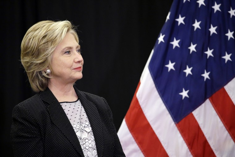 Democratic presidential candidate Hillary Rodham Clinton speaks at the University of Wisconsin-Milwaukee, Sep. 10, 2015, in Milwaukee. (Photo by Morry Gash/AP)