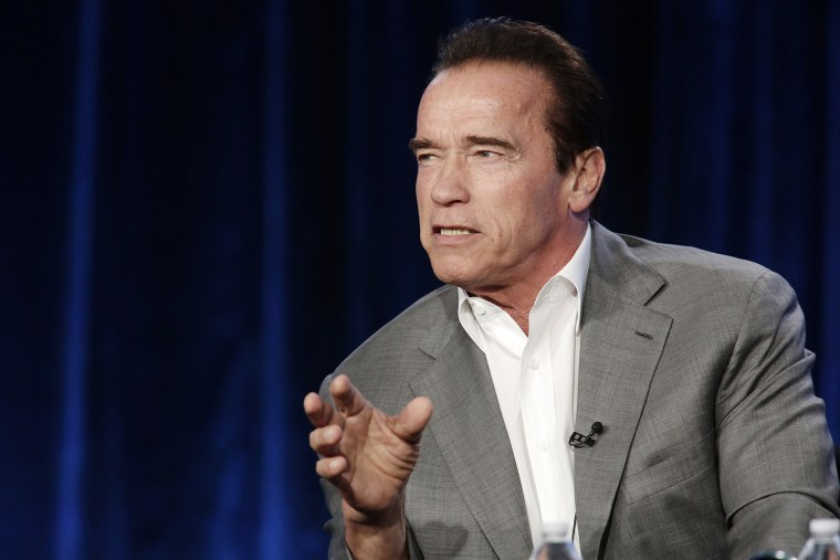 Arnold Schwarzenegger seen at an event on Jan. 16, 2014 in Pasadena, Calif. (Photo by Eric Charbonneau/Invision for Showtime/AP)