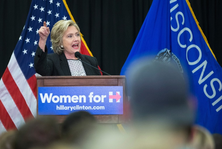 Democratic presidential candidate Hillary Clinton speaks to guests gathered for a campaign event at the University of Wisconsin-Milwaukee on Sep. 10, 2015 in Milwaukee, Wis. (Photo by Scott Olson/Getty)