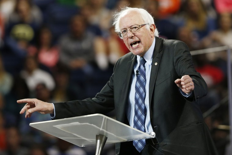 Democratic presidential candidate, Sen. Bernie Sanders, I-Vt. gestures during a speech at Liberty University in Lynchburg, Va., Monday, Sept. 14, 2015. (Photo by Steve Helber/AP)