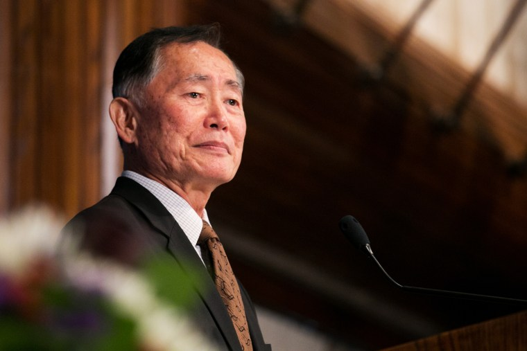George Takei speaking at the National Press Club on Oct. 18, 2013 in Wash., DC. (Photo by Alyson Fligg/Sipa)