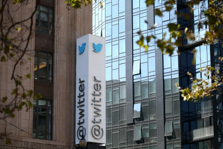 A sign is posted outside of the Twitter headquarters on July 29, 2014 in San Francisco, Calif. (Photo by Justin Sullivan/Getty)