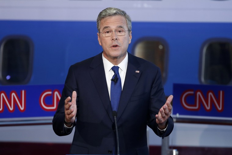 Republican U.S. presidential candidate and former Fla. Gov. Jeb Bush speaks during the second official Republican presidential candidates debate in Simi Valley, Calif. on Sept. 16, 2015. (Photo by Lucy Nicholson/Reuters)