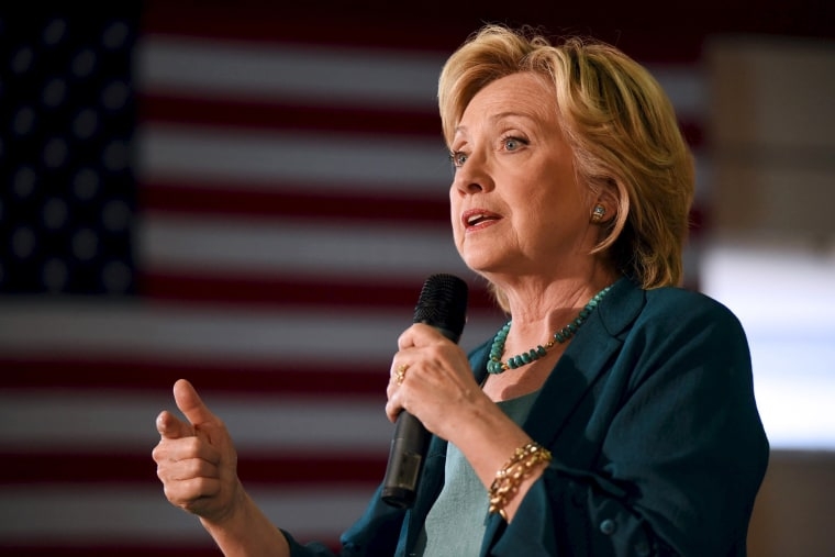 U.S. Democratic presidential candidate Hillary Clinton speaks at the Community Forum on Substance Abuse in Laconia, N.H. on Sept. 17, 2015. (Photo by Faith Ninivaggi/Reuters)