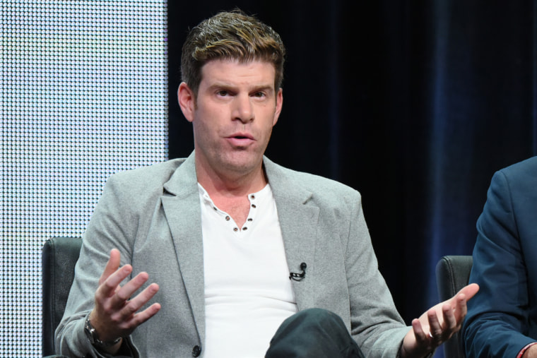 """Stephen Rannazzisi participates in """"The League"""" panel at the FX Summer TCA Tour at the Beverly Hilton Hotel on Friday, Aug. 7, 2015, in Beverly Hills, Calif. (Photo by Richard Shotwell/Invision/AP)"""