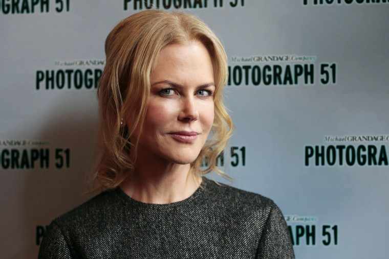 Photograph 51 cast member Nicole Kidman poses for a photograph at the Noel Coward Theatre in London, Britain on Sept. 7, 2015. (Photo by Suzanne Plunkett/Reuters)