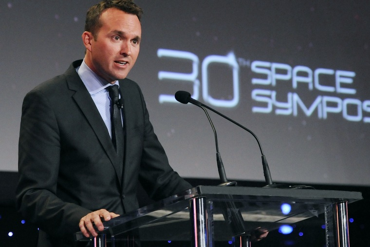 Undersecretary of the Air Force Eric Fanning speaks to a packed house at the 30th Space Symposium Corporate Partnership Dinner on May 20, 2014 in Colorado Springs, Colo. (Photo by Duncan Wood/U.S. Air Force)