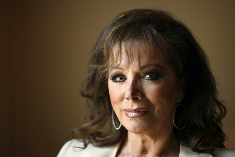 British author Jackie Collins poses for a photograph in New York (Photo by Lucas Jackson/Reuters)