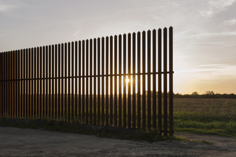 A section of the border fence ends along Avilia, off Military Highway, between Brownsville and McAllen, Texas. (Photo by Bryan Schutmaat for MSNBC)