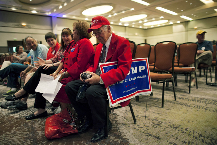 Attendees await an address by Donald Trump at the South Carolina African American Chamber of Commerce in North Charleston, S.C., Sept. 23, 2015. (Photo by Randall Hill/Reuters)