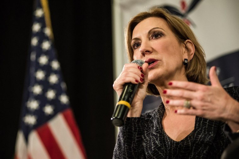 Republican presidential candidate Carly Fiorina speaks to voters during a town hall meeting at the Ocean Reef Convention Center September 22, 2015 in Myrtle Beach, SC. (Photo by Sean Rayford/Getty)