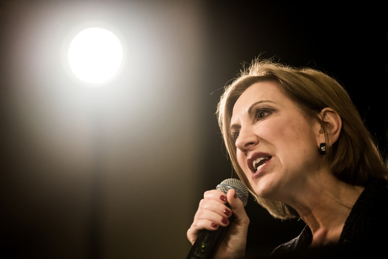 Republican presidential candidate Carly Fiorina speaks to voters during a town hall meeting at the Ocean Reef Convention Center, Sept. 22, 2015 in Myrtle Beach, S.C. (Photo by Sean Rayford/Getty)