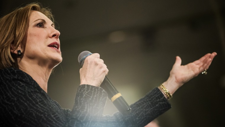 Republican presidential candidate Carly Fiorina speaks to voters during a town hall meeting at the Ocean Reef Convention Center Sept. 22, 2015 in Myrtle Beach, SC. (Photo by Sean Rayford/Getty)