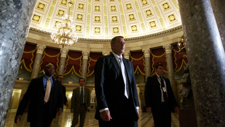 House Speaker John Boehner of Ohio, walks to the House Floor at the U.S. Capitol in Washington, D.C., Sept. 28, 2013. (Photo by Molly Riley/AP)