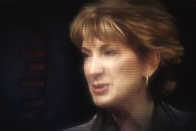 Carly Fiorina appears in an attack ad created by incumbent Democratic Sen. Barbara Boxer in 2010.