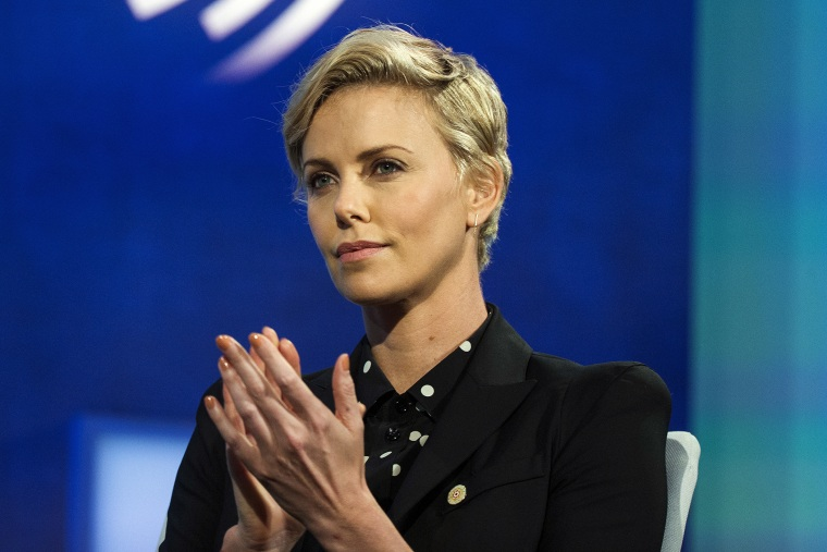 Actress and United Nations Messenger of Peace, Charlize Theron, takes part in a panel during the Clinton Global Initiative's annual meeting in New York, Sept. 27, 2015. (Photo by Lucas Jackson/Reuters)