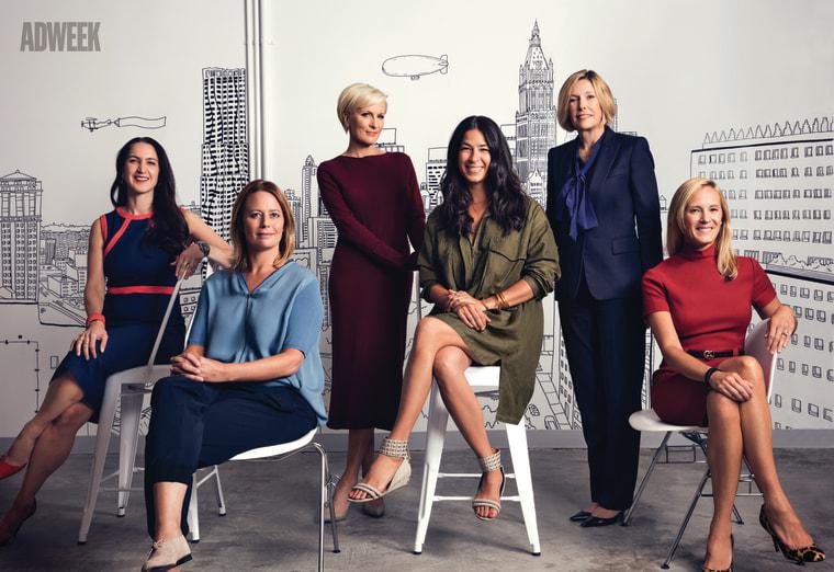 The panelists (left to right): Liza Landsman, Sarah Thompson, Mika Brzezinski, Rebecca Minkoff, Dawn Hudson and Kristin Lemkau