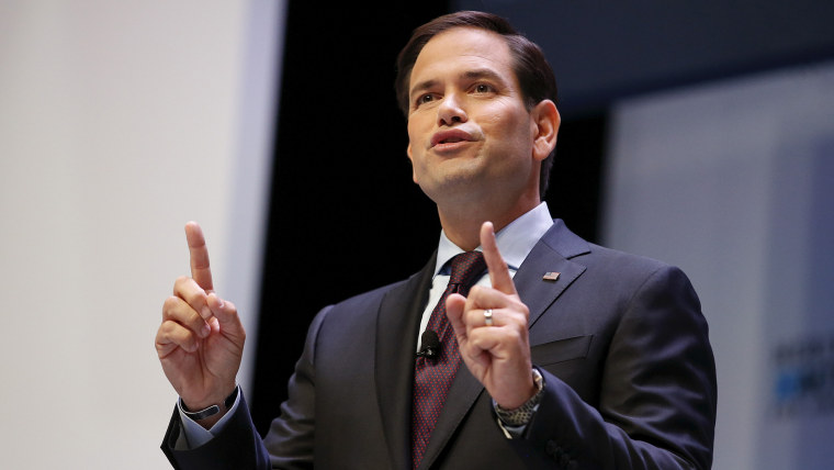 U.S. Republican presidential candidate and Senator Marco Rubio speaks during the Heritage Action for America presidential candidate forum in Greenville, SC., Sept. 18, 2015. (Photo by Chris Keane/Reuters)