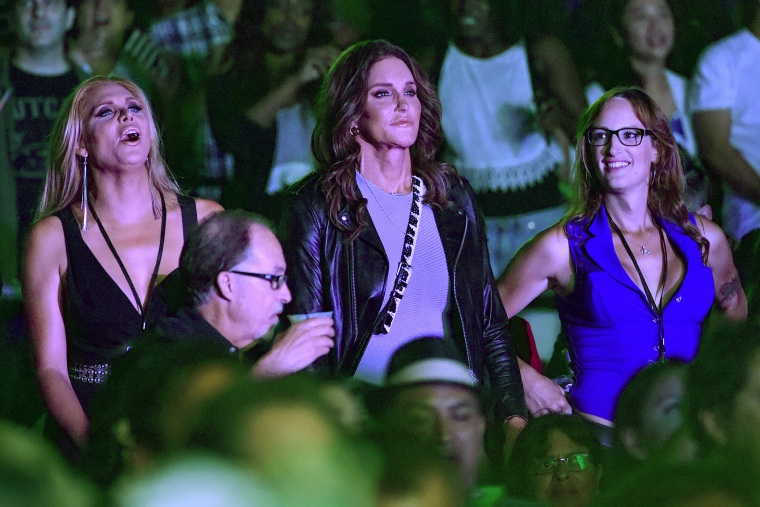 Caitlyn Jenner attends Culture Club's performance at the Greek Theatre on July 24, 2015 in Los Angeles, Calif. (Photo by Kevin Winter/Nederlander/Getty)