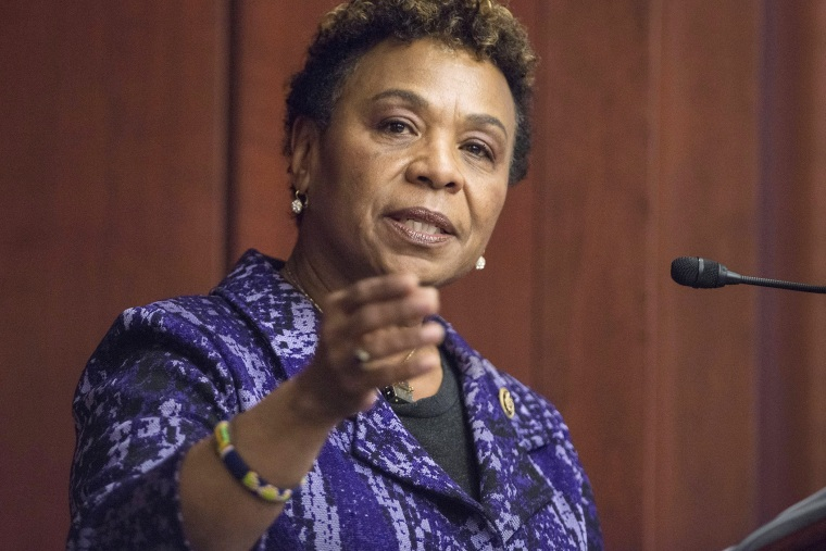Congresswoman Barbara Lee speaks during the 2015 amfAR Capitol Hill Conference at U.S. Capitol Visitor Center on March 24, 2015 in Washington, DC. (Photo by Leigh Vogel/Getty)