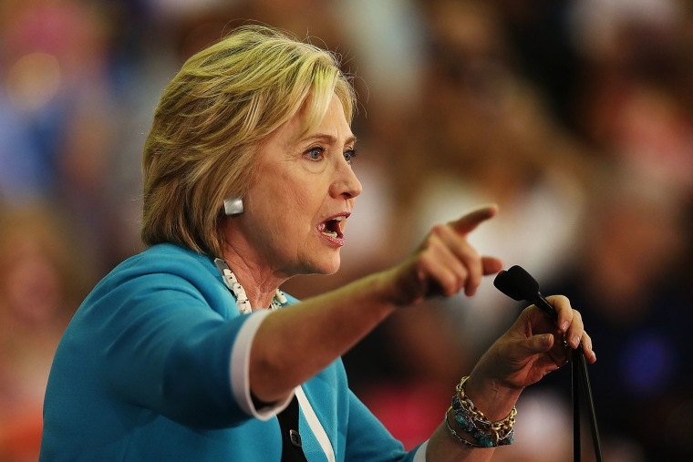 Democratic presidential candidate Hillary Clinton speaks during her campaign stop at the Broward College Hugh Adams Central Campus on Oct. 2, 2015 in Davie, Fla. (Photo by Joe Raedle/Getty)