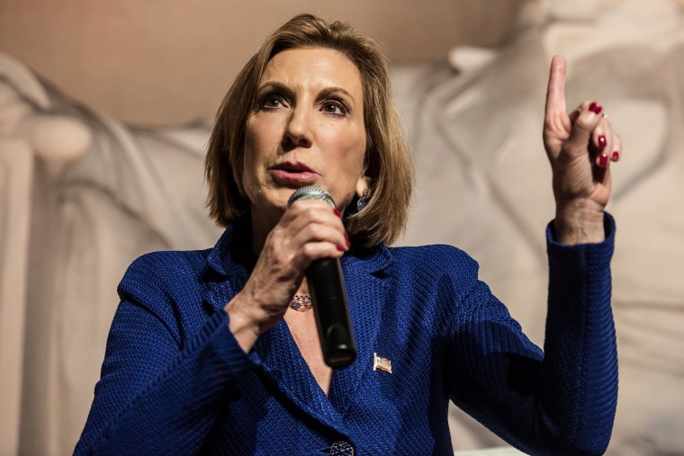 Republican presidential candidate Carly Fiorina speaks to voters at a town hall meeting Oct. 2, 2015 in Aiken, S.C. (Photo by Sean Rayford/Getty)