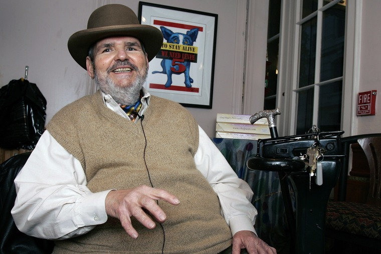 In this Friday, Feb. 2, 2007 file photo, chef Paul Prudhomme responds in an interview at his French Quarter restaurant, K-Paul's Louisiana Kitchen, in New Orleans, La.  (Photo by Bill Haber/File/AP)