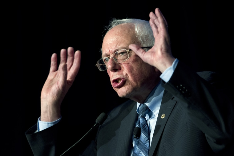 Democratic presidential candidate Sen. Bernie Sanders, I-Vt. speaks during the Congressional Hispanic Caucus Institute Public Policy Conference at Washington Convention Center, Oct. 7, 2015, in Washington. (Photo by Jose Luis Magana/AP)