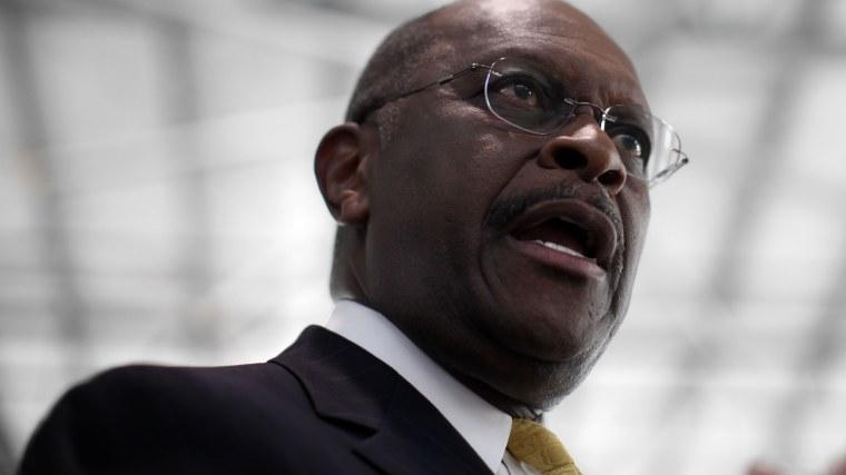 Former Republican presidential candidate Herman Cain speaks on Jan. 30, 2012, in Tampa, Fla. (Photo by Matt Rourke/AP)