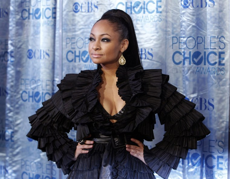 Actress Raven-Symone arrives at the 2011 People's Choice Awards in Los Angeles, Jan. 5, 2011. (Photo by Danny Moloshok/Reuters)