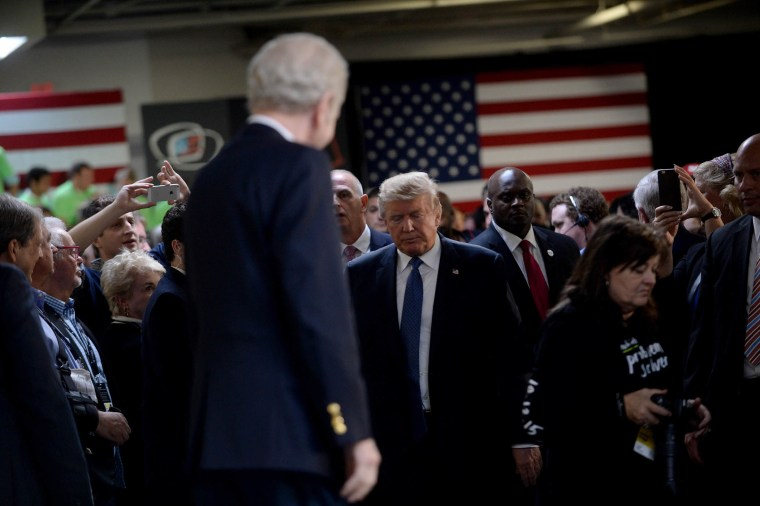 Republican Presidential candidate Donald Trump arrives at the No Labels Problem Solver convention, Oct. 12, 2015 in Manchester, N.H. (Photo by Darren McCollester/Getty)
