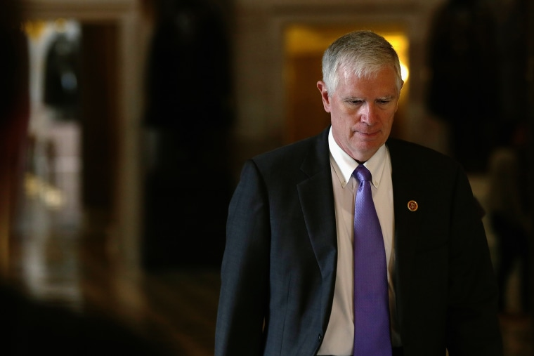 U.S. Rep. Mo Brooks (R-AL) walks to the House Chamber for a procedural vote on the House floor, Sept. 28, 2013 on Capitol Hill in Washington, DC. (Photo by Alex Wong/Getty)