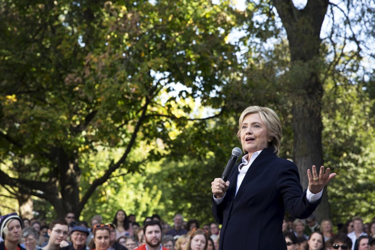 Democratic presidential candidate Hillary Clinton speaks during a community forum campaign event at Cornell College in Mt Vernon, Iowa, Oct. 7, 2015. (Photo by Scott Morgan/Reuters)