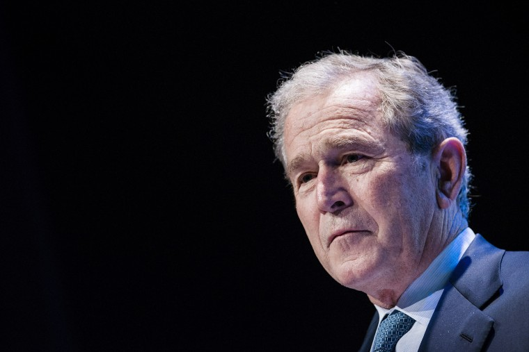 """Former US President George W. Bush speaks during """"Investing in Our Future"""" at the US-Africa Leaders Summit at the Kennedy Center on Aug. 6, 2014 in Washington, DC. (Brendan Smialowski/AFP/Getty)"""