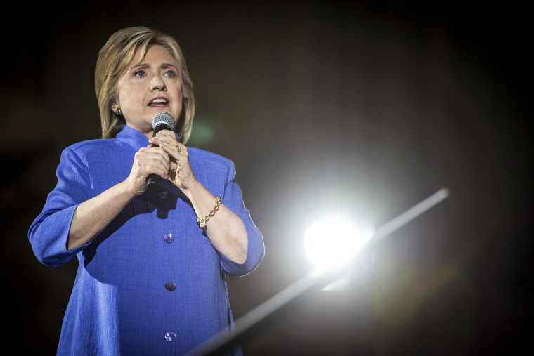 Democratic presidential candidate and former Secretary of State Hillary Clinton, speaks during a campaign rally in Las Vegas, Nev., on Oct. 14, 2015. (Photo by Christopher Dilts/Bloomberg/Getty)