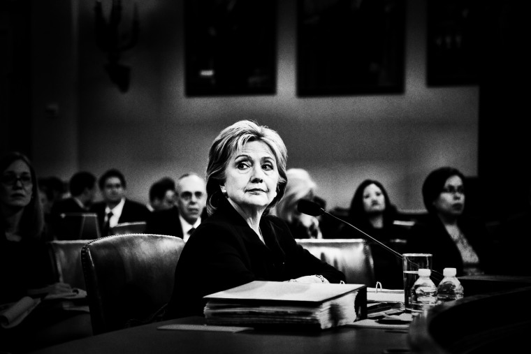 Former Secretary of State and Democratic presidential candidate Hillary Clinton testifies before the House Select Committee on Benghazi on Capitol Hill in Washington, D.C., Oct. 22, 2015.