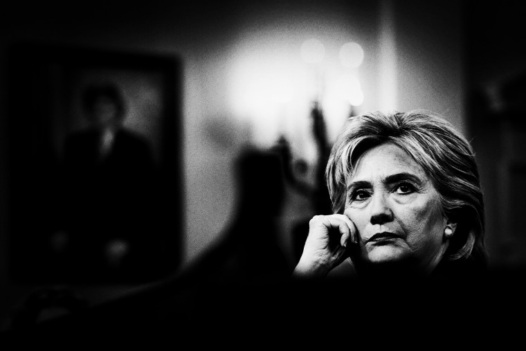 Former Secretary of State and Democratic presidential candidate Hillary Clinton listens to a question posed by the House Select Committee on Benghazi on Capitol Hill in Washington, D.C., Oct. 22, 2015. (Photo by Mark Peterson/Redux for MSNBC)