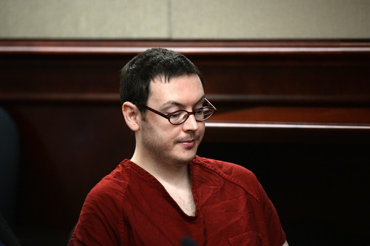 James Holmes appears in court to be formally sentenced, when victims and their families were given the opportunity to speak about the shooting and its effects on their lives, Aug. 24, 2015. (Photo by RJ Sangosti/The Denver Post/Getty)
