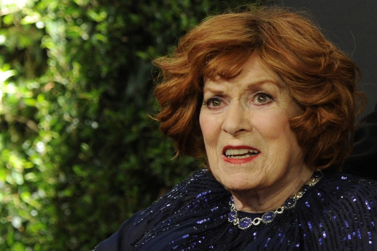 Maureen O'Hara arrives at the 6th annual Governors Awards at the Hollywood and Highland Center, Nov. 8, 2014 in Los Angeles. (Photo by Chris Pizzello/Invision/AP)