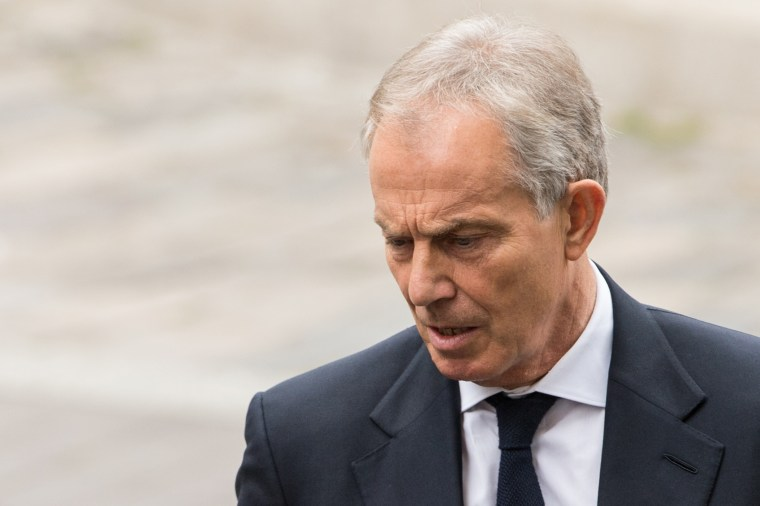 Former Prime Minister Tony Blair attends the service to commemorate the tenth anniversary of the London 7/7 bombings at St Pauls Cathedral on July 7, 2015 in London, England. (Photo by Ian Gavan/Getty)