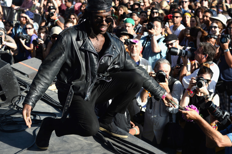 Musician Dev Hynes of Blood Orange performs onstage during day 3 of the 2014 Coachella Valley Music & Arts Festival at the Empire Polo Club on April 13, 2014 in Indio, Calif. (Photo by Frazer Harrison/Coachella/Getty)