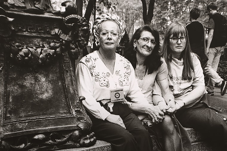 Sylvia Rivera (with Christina Hayworth and Julia Murray) by Luis Carle, gelatin silver print, 2000. Courtesy of National Portrait Gallery, Smithsonian Institution.