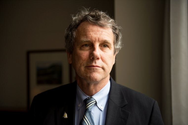 Sen. Sherrod Brown (D-Ohio) poses for a portrait in his offices on Capitol Hill on Jan. 27, 2015 in Washington, D.C. (Photo by Andrew Harnik/The Washington Post/Getty)