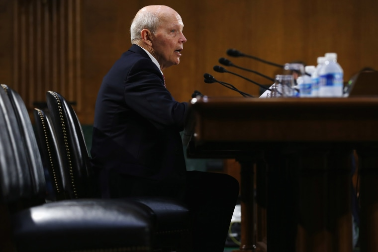 IRS Commissioner John Koskinen testifies before the Senate Judiciary's Oversight, Agency Action, Federal Rights and Federal Courts Subcommittee on Capitol Hill July 29, 2015 in Washington, DC. (Photo by Chip Somodevilla/Getty)
