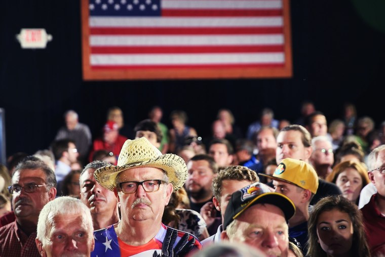 Supporters of Wisconsin Governor Scott Walker wait at the Waukesha County Expo Center before he announced his bid for the Republican nomination for president on July 13, 2015 in Waukesha, Wis. (Photo by Scott Olson/Getty)