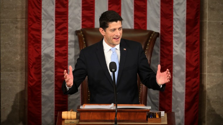 Rep. Paul Ryan, R-Wis. speaks in the House Chamber on Capitol Hill in Washington, Oct. 29, 2015. (Photo by Andrew Harnik/AP)