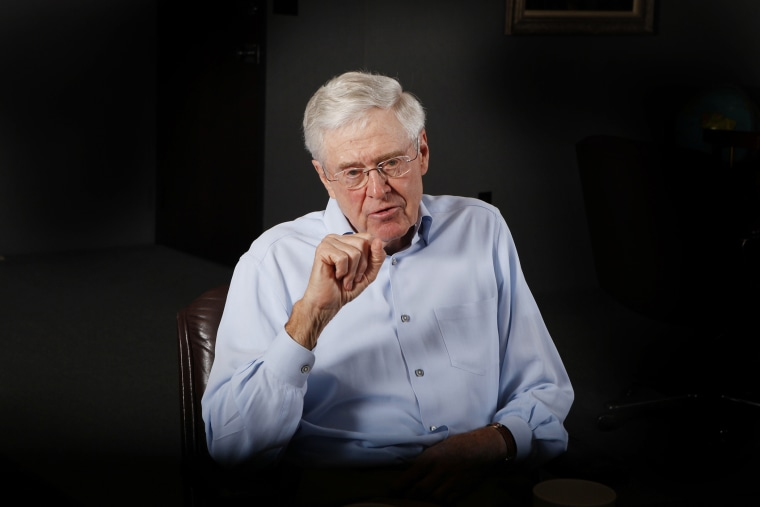 Charles Koch speaks during an interview in his office at Koch Industries in Wichita, Kansas, May 22, 2012. (Photo by Bo Rader/MCT/Zuma Press)