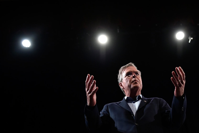 Republican presidential candidate Jeb Bush speaks during an event at the College of Southern Nevada on Oct. 21, 2015 in North Las Vegas, Nev. (Photo by David Becker/Getty)