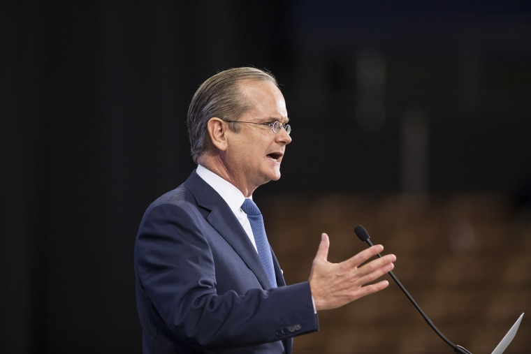 Democratic presidential candidate Lawrence Lessig speaks on stage at the New Hampshire Democratic Party State Convention on Sept. 19, 2015 in Manchester, N.H. (Photo by Scott Eisen/Getty)