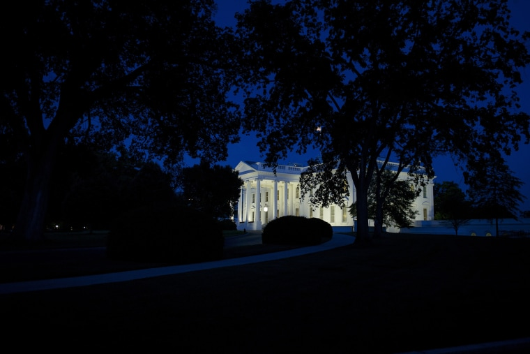 A dusk view of the White House in Washington, D.C. on May 30, 2015. (Photo by Brendan Smialowski/AFP/Getty)